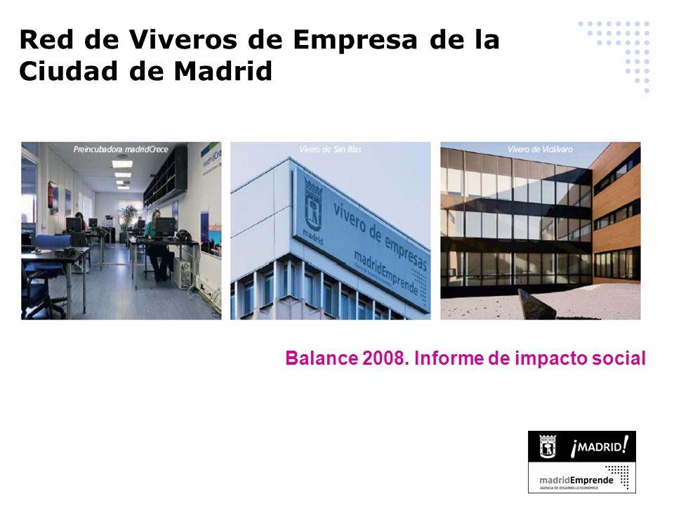 Balance 2008. Informe de impacto social Red de Viveros de Empresa de la Ciudad de Madrid