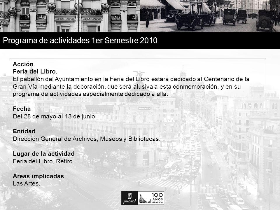 25 Programa de actividades 1er Semestre 2010 Acción Feria del Libro.