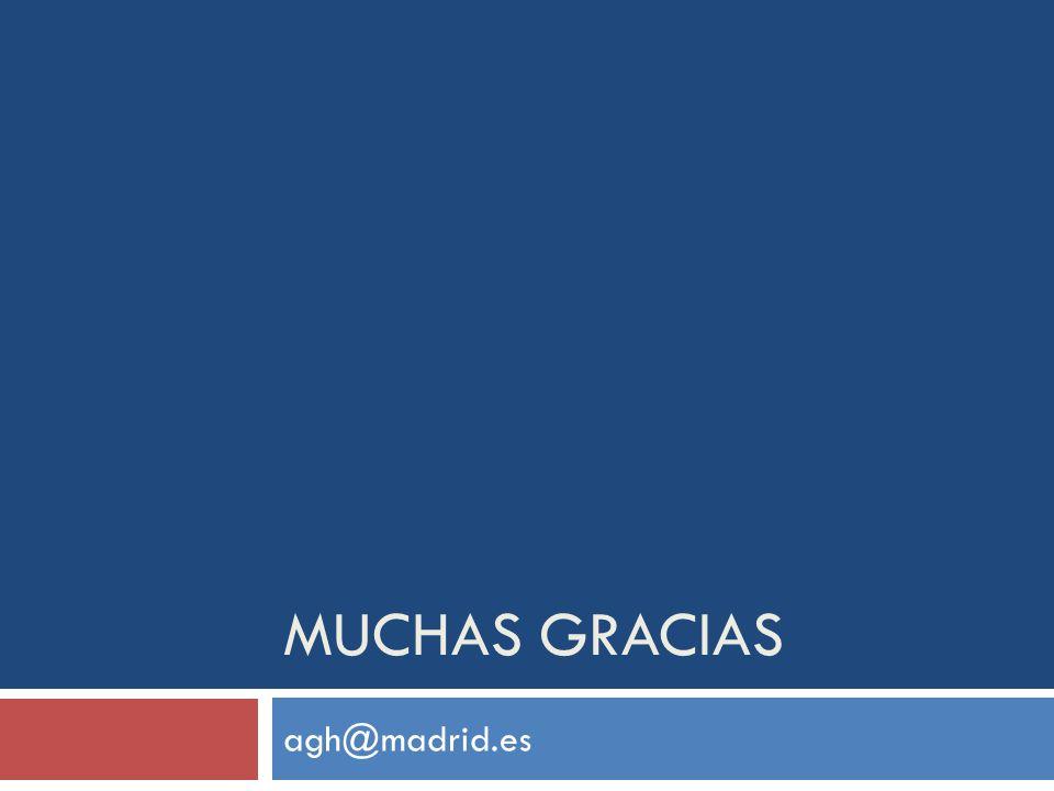 MUCHAS GRACIAS agh@madrid.es