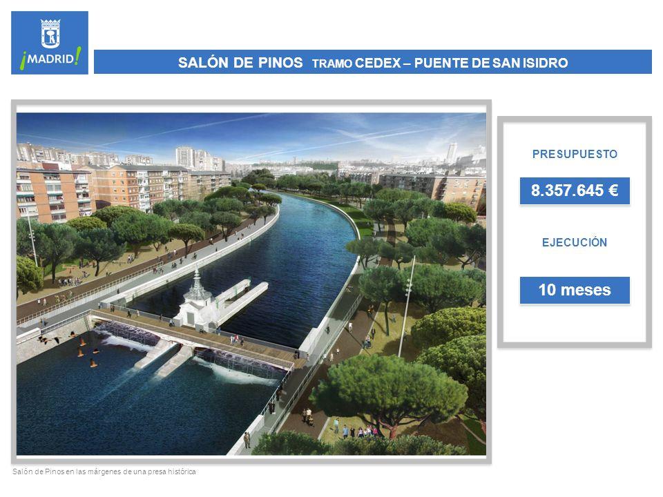TALUD DE ANICETO MARINAS PRESUPUESTO EJECUCIÓN 1.919.941 4 meses Talud de Aniceto Marinas desde Puente del Rey a Glorieta de San Vicente
