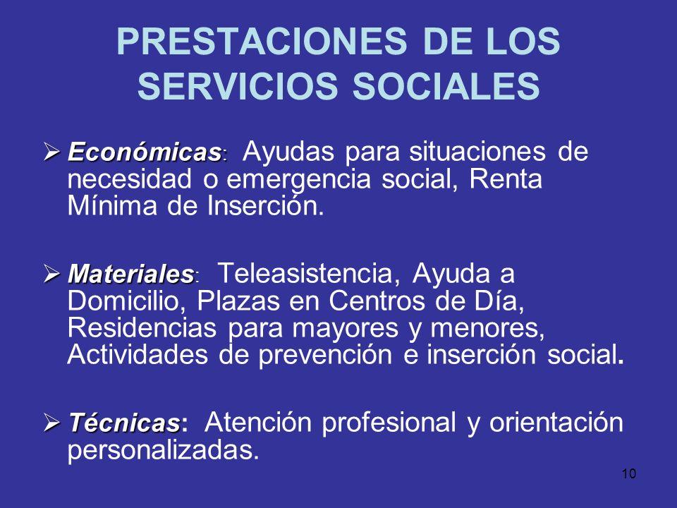 9 TASA COBERTURA ATENCIÓN SOCIAL PRIMARIA 2004 - 2007