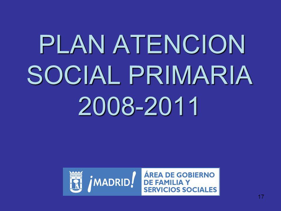 16 ATENCIÓN DE EMERGENCIAS SOCIALES Se realiza a través del SAMUR Social 24 horas y 365 Funciona 24 horas y 365 días al año, actuando de forma coordin