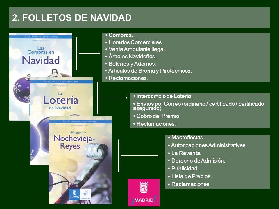 2.FOLLETOS DE NAVIDAD Compras. Horarios Comerciales.