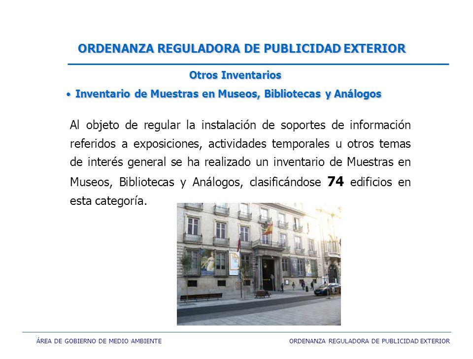 ÁREA DE GOBIERNO DE MEDIO AMBIENTE ORDENANZA REGULADORA DE PUBLICIDAD EXTERIOR Al objeto de regular la instalación de soportes de información referido