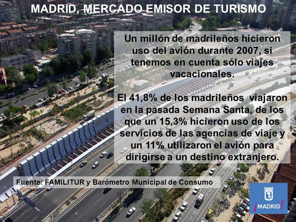 52.143.275 pasajeros en 2007 (+13,8% respecto a 2006) 483.284 operaciones en 2007 (+11,1% respecto a 2006) Un millón de madrileños hicieron uso del av