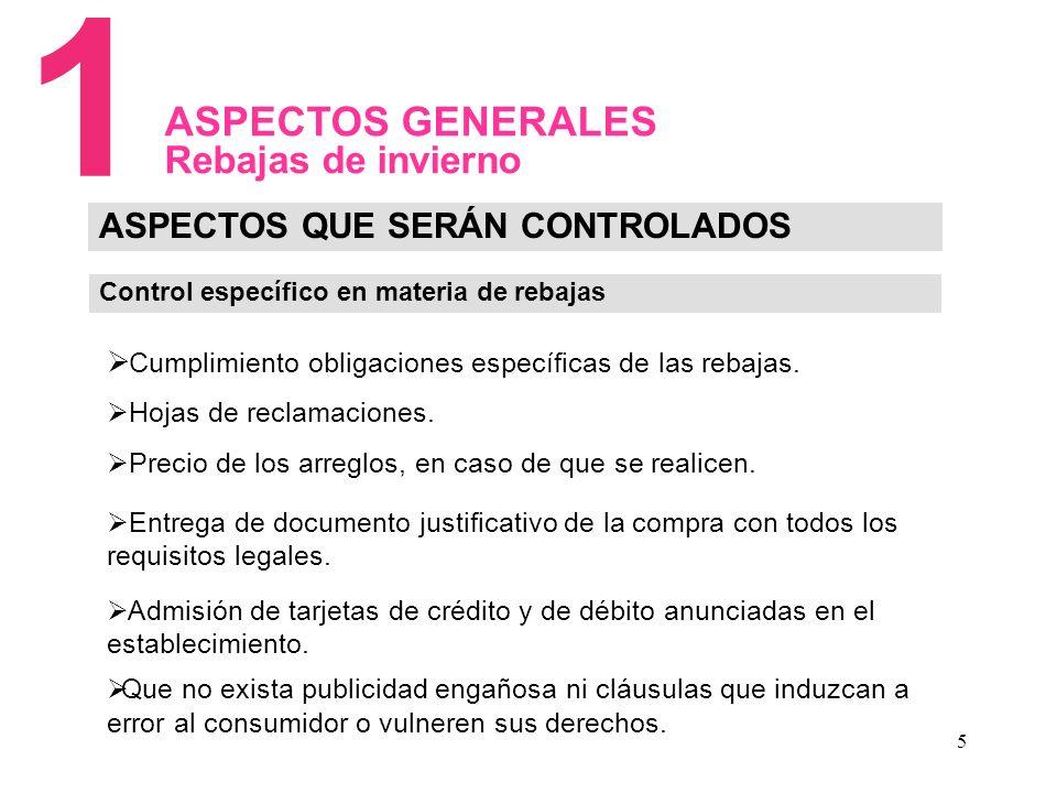5 Cumplimiento obligaciones específicas de las rebajas.