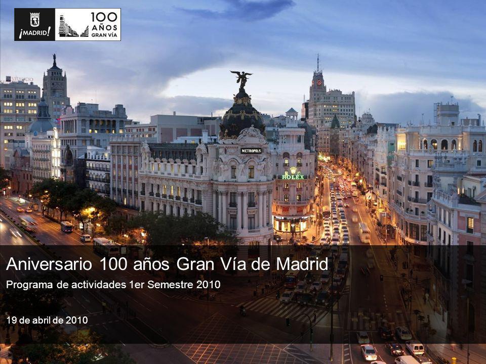 Programa de actividades 1er Semestre 2010 Aniversario 100 años Gran Vía de Madrid 19 de abril de 2010
