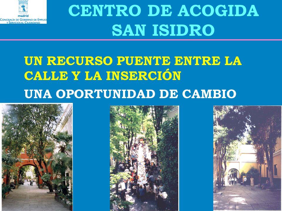 CENTRO DE ACOGIDA SAN ISIDRO UN RECURSO PUENTE ENTRE LA CALLE Y LA INSERCIÓN UNA OPORTUNIDAD DE CAMBIO