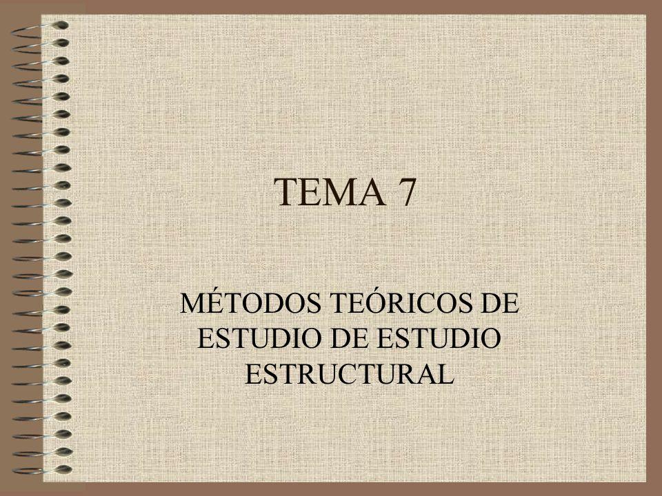 TEMA 7 MÉTODOS TEÓRICOS DE ESTUDIO DE ESTUDIO ESTRUCTURAL