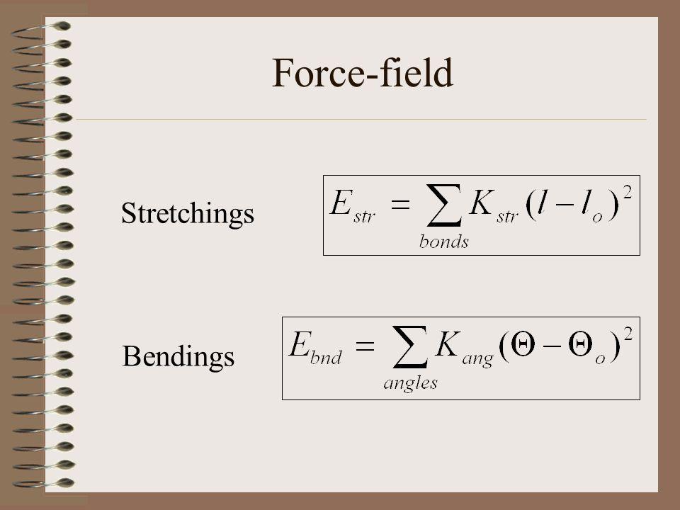 Force-field Stretchings Bendings