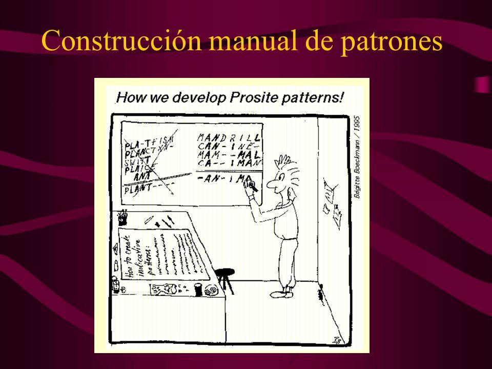 Construcción manual de patrones
