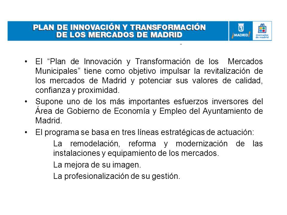 El Plan de lnnovación y Transformación de los Mercados Municipales tiene como objetivo impulsar la revitalización de los mercados de Madrid y potencia