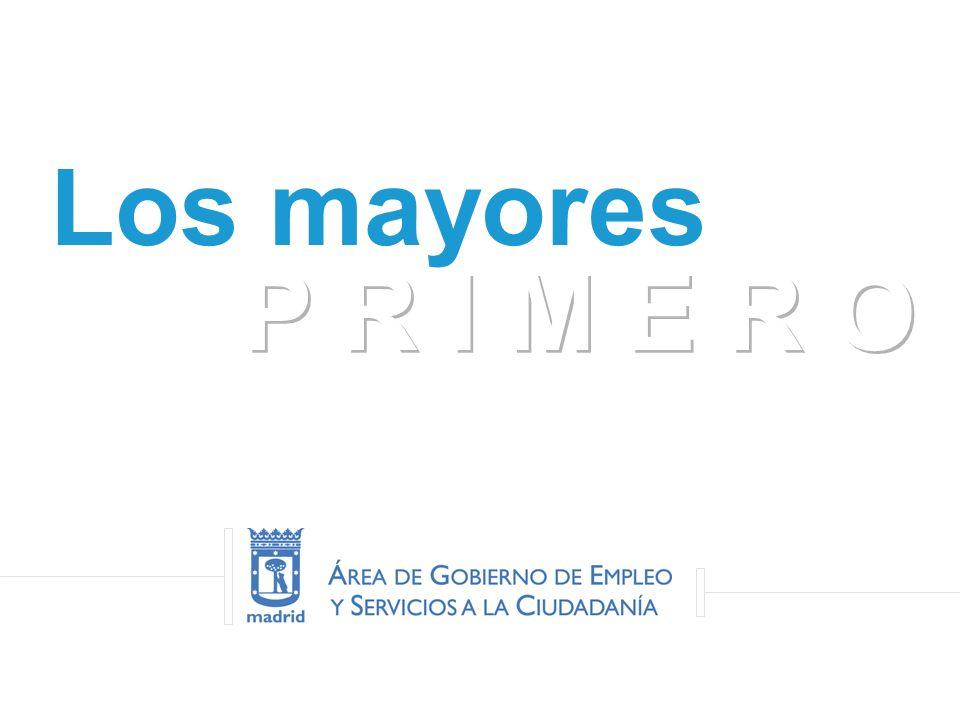 Programa Municipal de Atención a Personas Mayores XXV PROGRAMA IBEROAMERICANO DE FORMACIÓN MUNICIPAL Los mayores