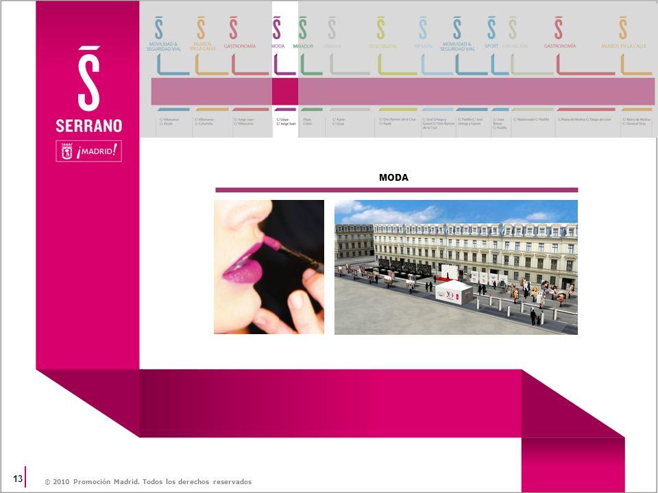 13 © 2010 Promoción Madrid. Todos los derechos reservados MODA