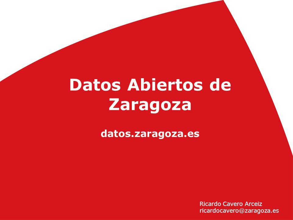 1 Día del W3C en Zaragoza (25 de noviembre 2010) ) Datos Abiertos de Zaragoza datos.zaragoza.es Ricardo Cavero Arceiz ricardocavero@zaragoza.es