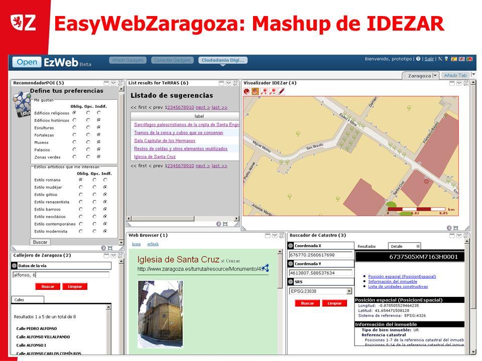 12 Día del W3C en Zaragoza (25 de noviembre 2010) ) EasyWebZaragoza: Mashup de IDEZAR