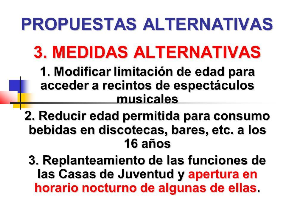 PROPUESTAS ALTERNATIVAS 3. MEDIDAS ALTERNATIVAS 1.