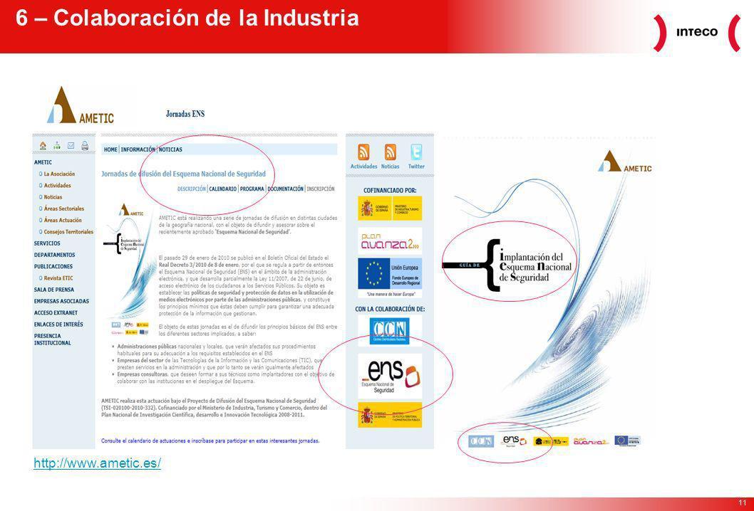 11 6 – Colaboración de la Industria http://www.ametic.es/