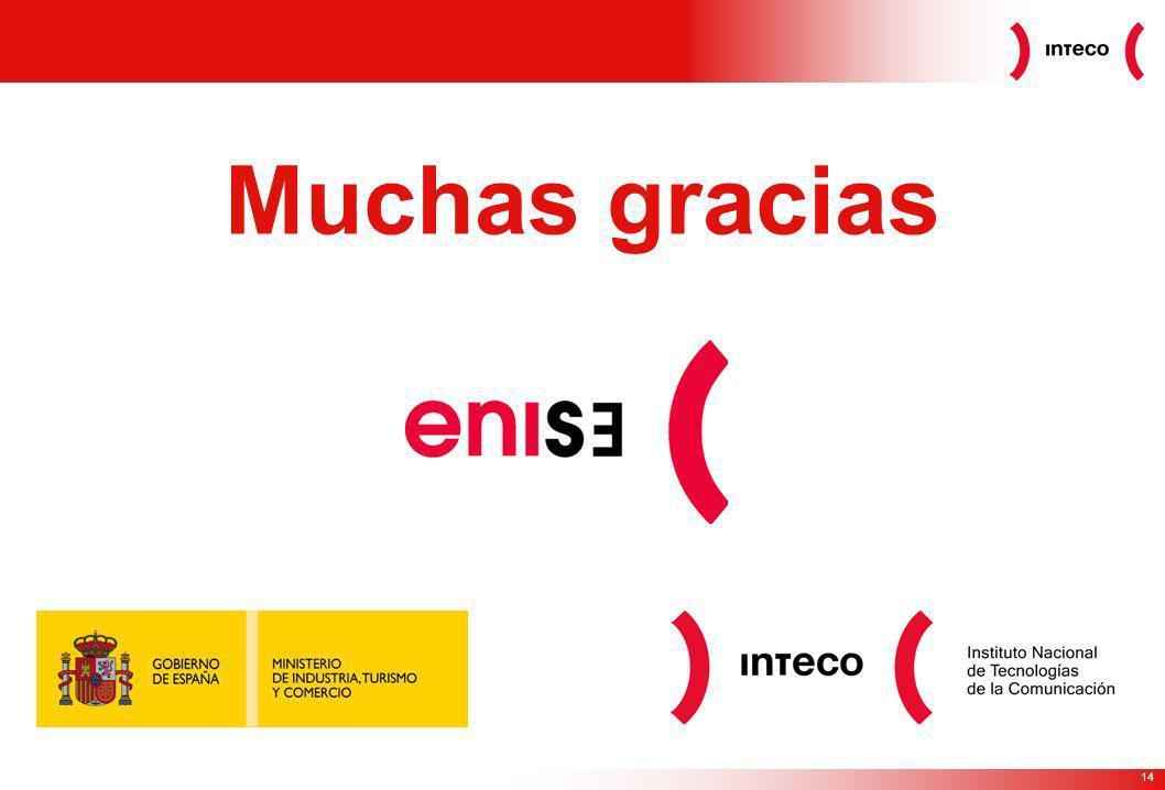 14 Muchas gracias