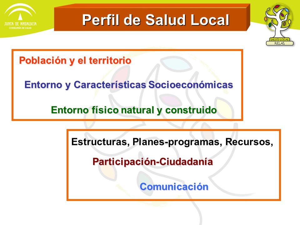 Perfil de Salud Local Perfil de Salud Local Población y el territorio Entorno físico natural y construido Entorno y Características Socioeconómicas Es