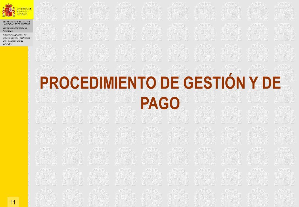 SECRETARÍA DE ESTADO DE HACIENDA Y PRESUPUESTOS SECRETARÍA GENERAL DE HACIENDA DIRECCIÓN GENERAL DE COORDINACIÓN FINANCIERA CON LAS ENTIDADES LOCALES