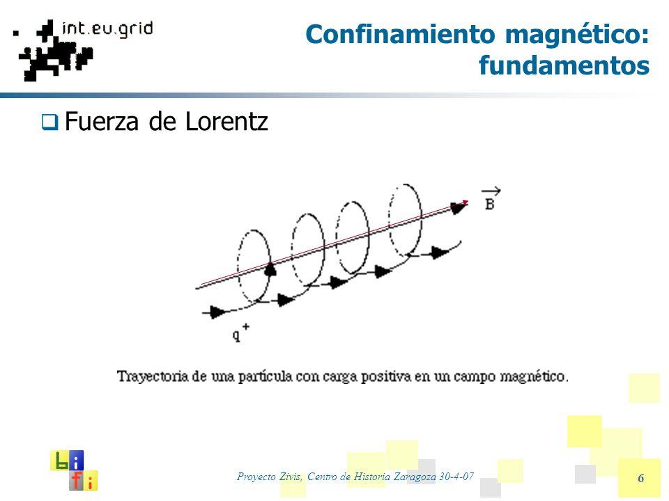 Proyecto Zivis, Centro de Historia Zaragoza 30-4-07 17 Medidas relevantes Medidas (promedios) sobre trayectorias independientes: Distribución en el espacio real y en el de velocidades.