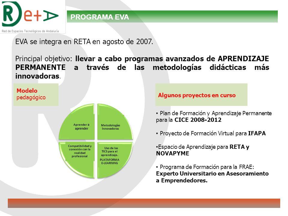 EVA se integra en RETA en agosto de 2007.