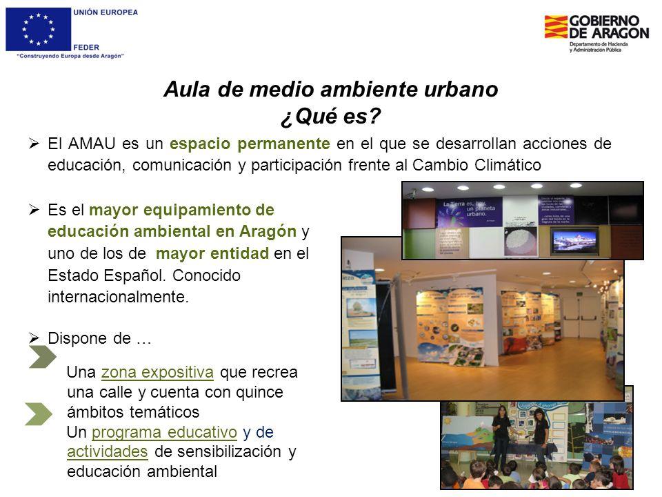 Aula de medio ambiente urbano ¿Qué es? El AMAU es un espacio permanente en el que se desarrollan acciones de educación, comunicación y participación f
