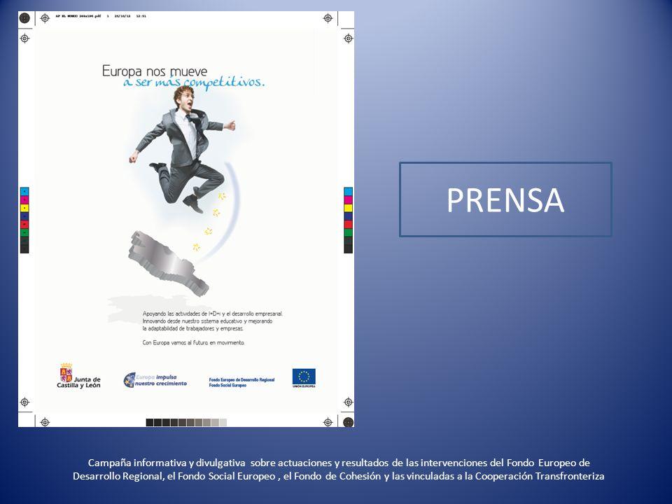 PROGRAMA OPERATIVO FEDER DE CASTILLA Y LEÓN 2007-2013 Avances y logros de los proyectos FEDER en 2012 en materia de Crecimiento Inteligente UNIÓN EUROPEA Fondo Europeo de Desarrollo Regional