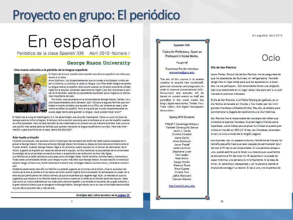 Proyecto en grupo: El periódico
