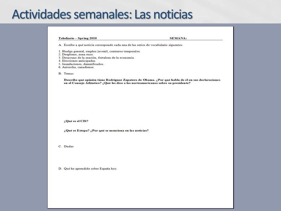 Aplicabilidad Los comentarios y las fotos son utilizados en clase para ejercicios de emparejamiento, identificación o repaso del vocabulario (una variación de la actividad adecuada para los niveles más bajos).