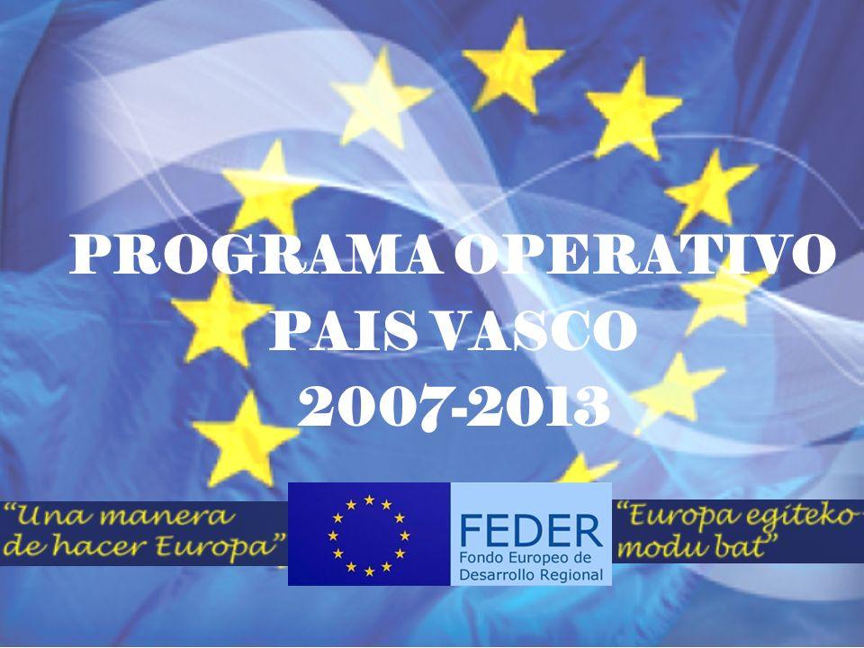 POPV FEDER 2007/2013 Aranjuez, 29 noviembre 2011 PROGRAMA OPERATIVO PAÍS VASCO FEDER 2007-2013 ACTO ANUAL DE DIFUSIÓN DE LOS FONDOS EUROPEOS DE LA POLITICA REGIONAL Aranjuez, 29 de noviembre de 2011