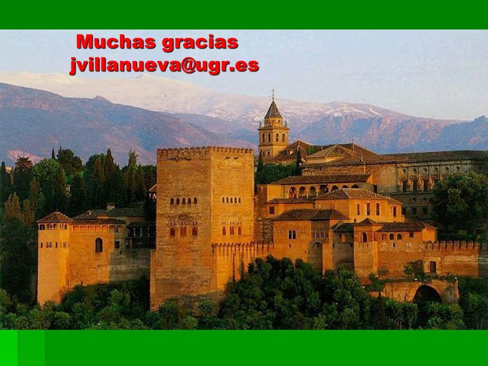 Muchas gracias jvillanueva@ugr.es Muchas gracias jvillanueva@ugr.es