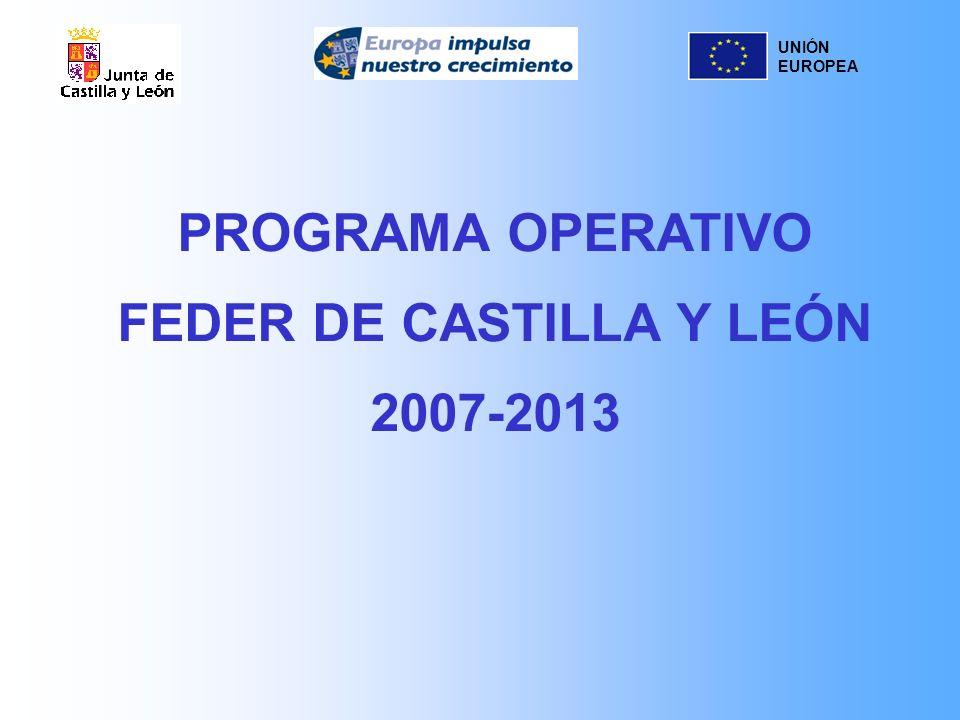 UNIÓN EUROPEA PROGRAMA OPERATIVO FEDER DE CASTILLA Y LEÓN 2007-2013
