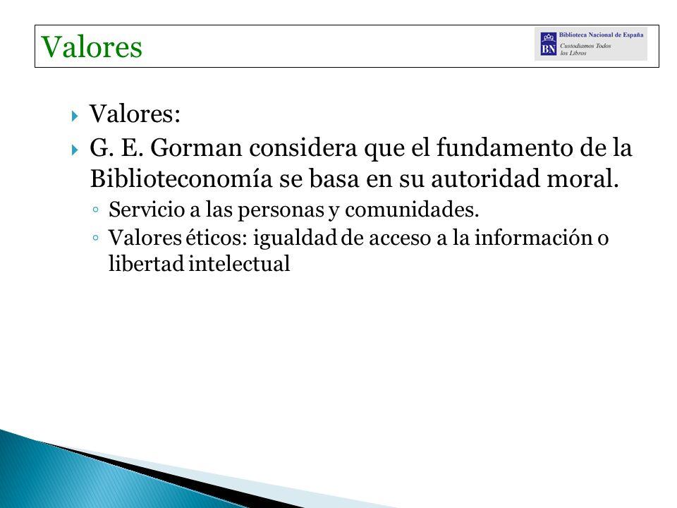 Valores: G. E.