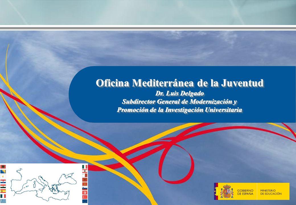 Oficina Mediterránea de la Juventud Dr. Luis Delgado Subdirector General de Modernización y Promoción de la Investigación Universitaria Oficina Medite