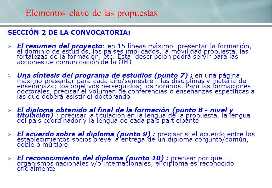 SECCIÓN 2 DE LA CONVOCATORIA: El resumen del proyecto: en 15 líneas máximo presentar la formación, el dominio de estudios, los países implicados, la m