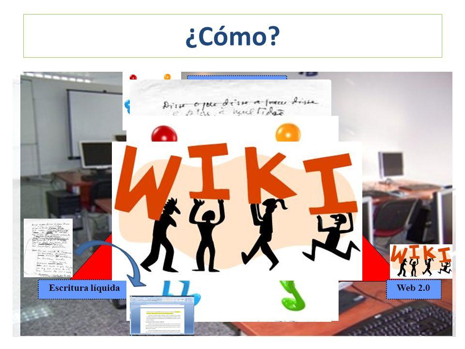 ¿Cómo? Estrategias de expresión escrita Constructivismo Escritura líquidaWeb 2.0 IO EOCA ACL CL CAv