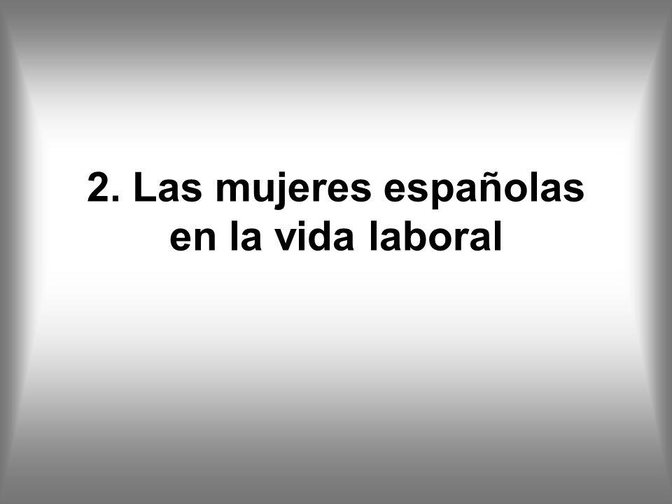 2. Las mujeres españolas en la vida laboral