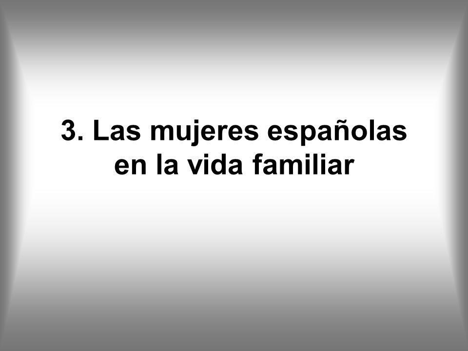3. Las mujeres españolas en la vida familiar