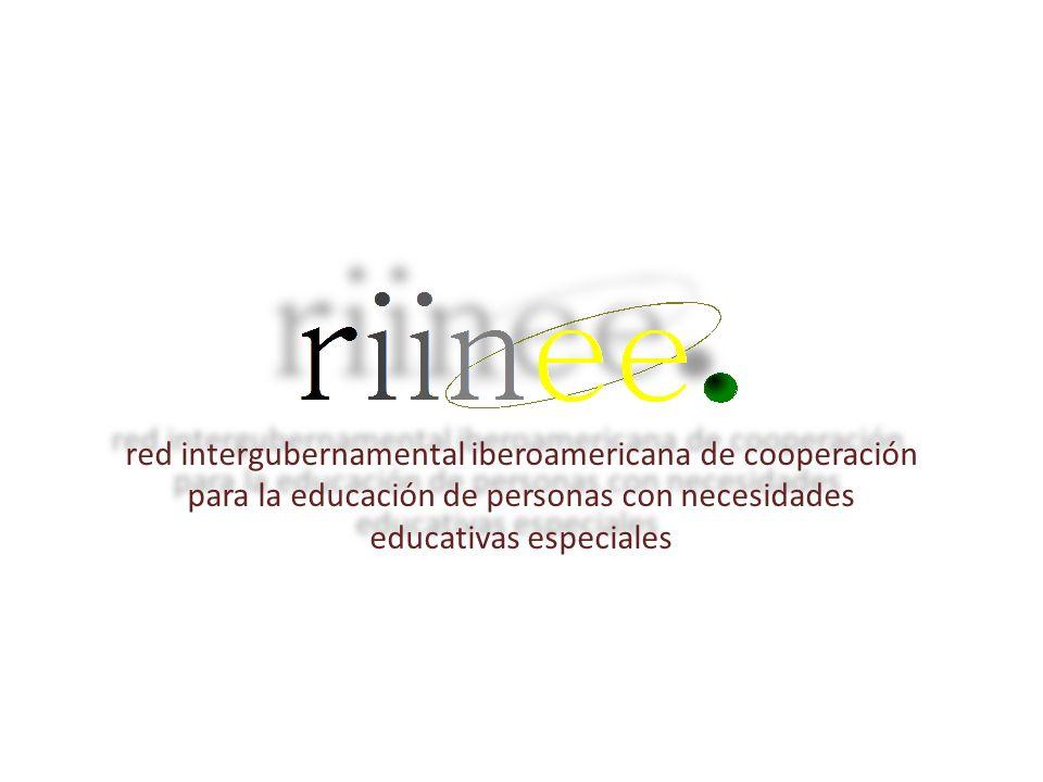 red intergubernamental iberoamericana de cooperación para la educación de personas con necesidades educativas especiales