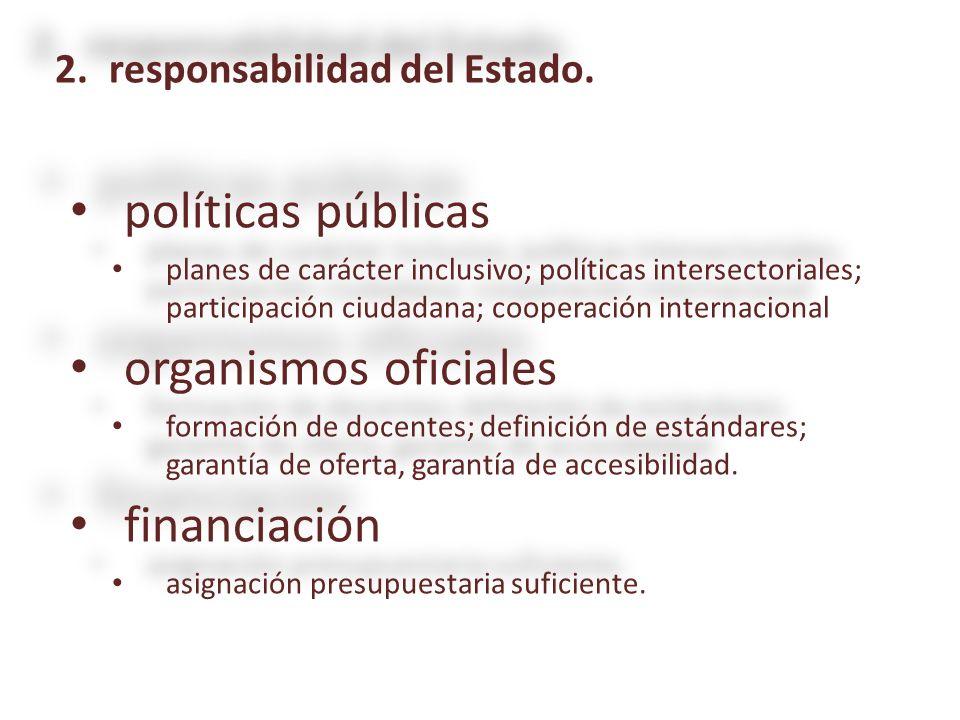políticas públicas políticas públicas planes de carácter inclusivo; políticas intersectoriales; participación ciudadana; cooperación internacional pla