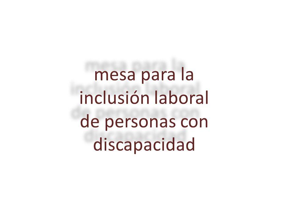 mesa para la inclusión laboral de personas con discapacidad
