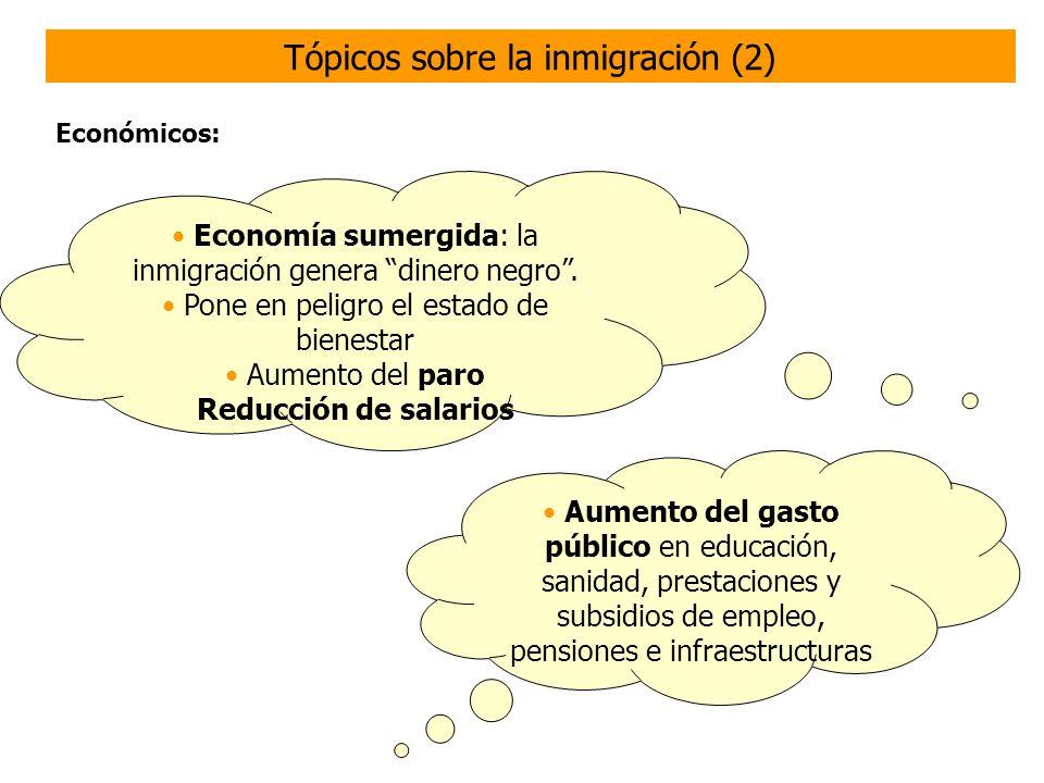 Costes políticos y culturales empleados en una población que no se integra culturalmente ni en la construcción democrática de la sociedad Políticos y culturales: Tópicos sobre la inmigración (3)