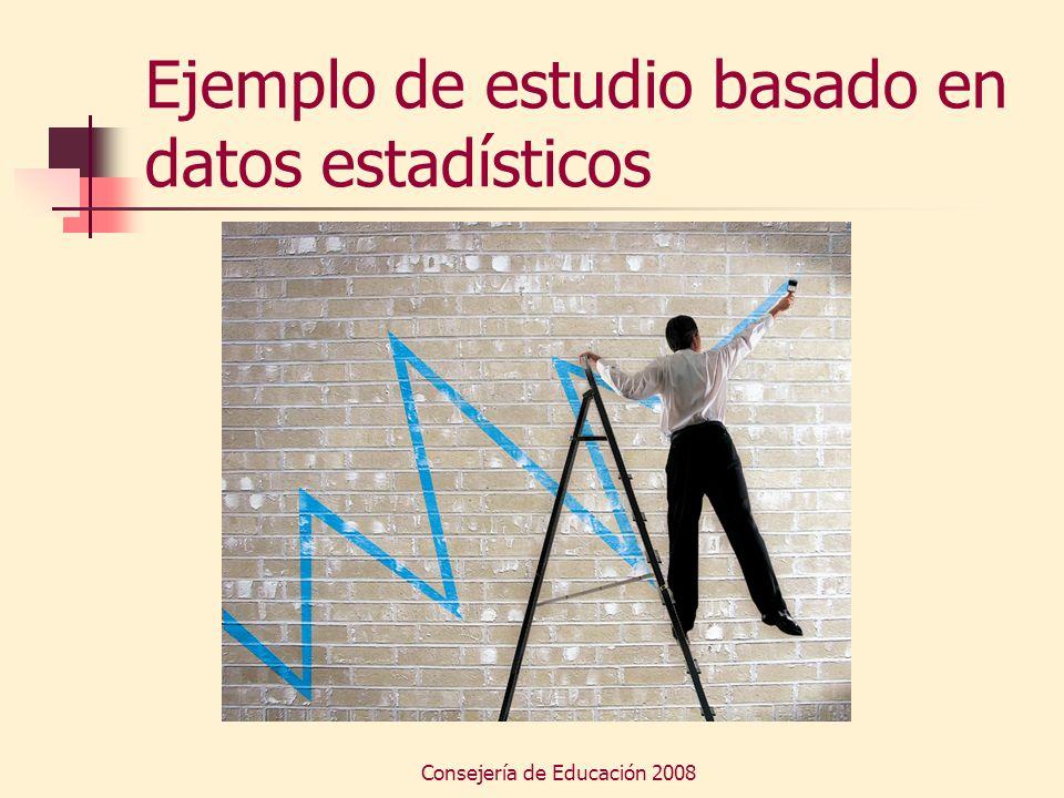 Consejería de Educación 2008 Ejemplo de estudio basado en datos estadísticos