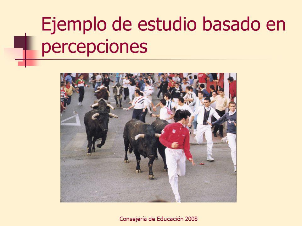 Consejería de Educación 2008 Ejemplo de estudio basado en percepciones