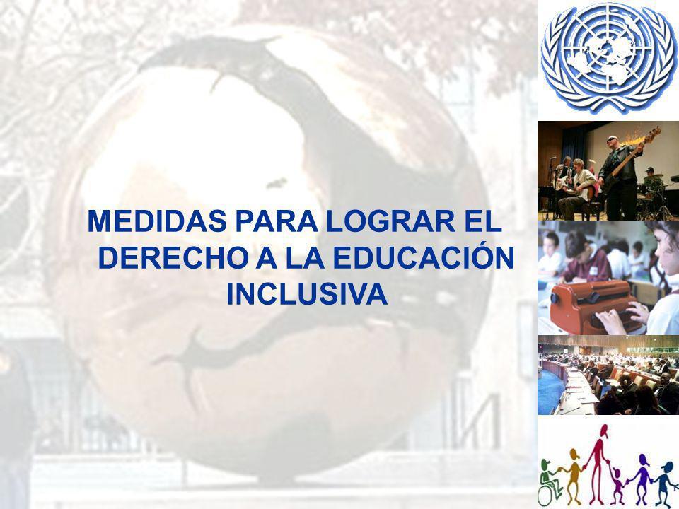 DECLARACIONES Y RESERVAS DE LOS ESTADOS PARTES Declaración: Con respecto al Artículo 24 Cláusula 2 (a) y 2 (b): El gobierno del Reino Unido se compromete a continuar desarrollando un sistema inclusivo en el que los padres de los niños con discapacidad tengan cada vez mayor acceso a personal y escuelas de educación integrada, que tengan capacidad para cubrir las necesidades de los niños con discapacidad.