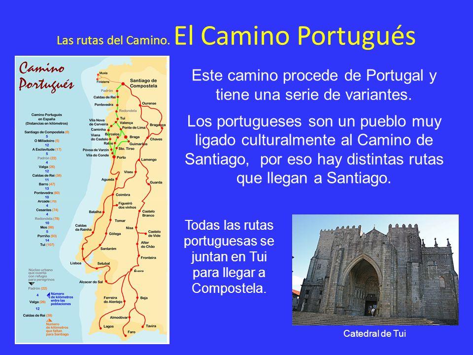 Las rutas del Camino. El Camino Portugués Este camino procede de Portugal y tiene una serie de variantes. Los portugueses son un pueblo muy ligado cul