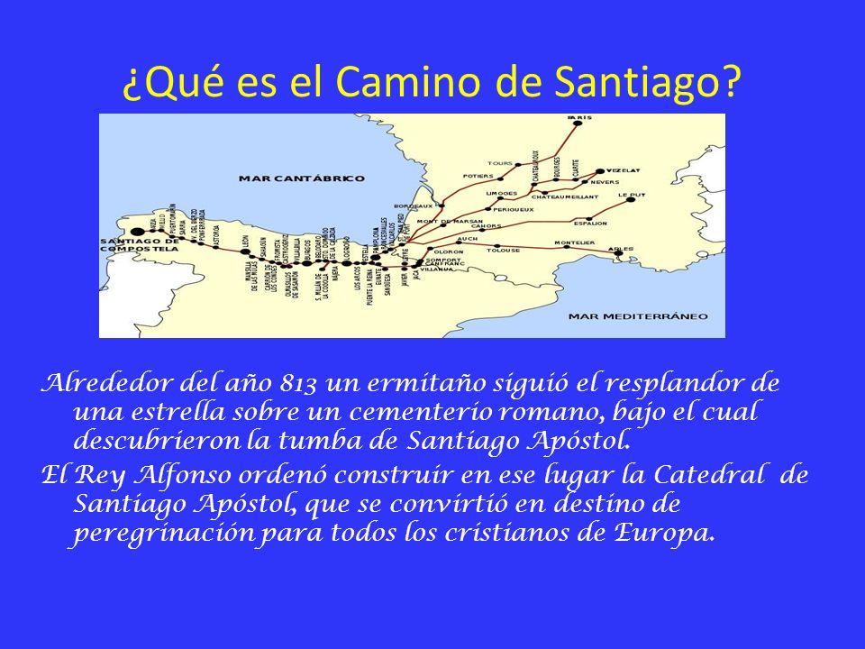 ¿Qué es el Camino de Santiago? Alrededor del año 813 un ermitaño siguió el resplandor de una estrella sobre un cementerio romano, bajo el cual descubr