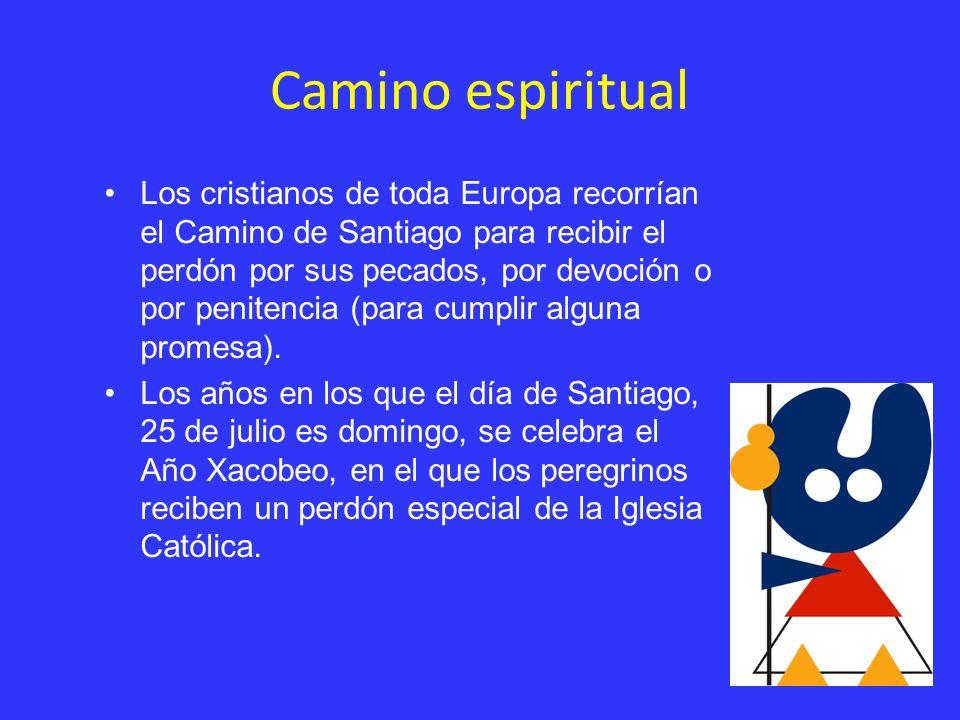 Camino espiritual Los cristianos de toda Europa recorrían el Camino de Santiago para recibir el perdón por sus pecados, por devoción o por penitencia